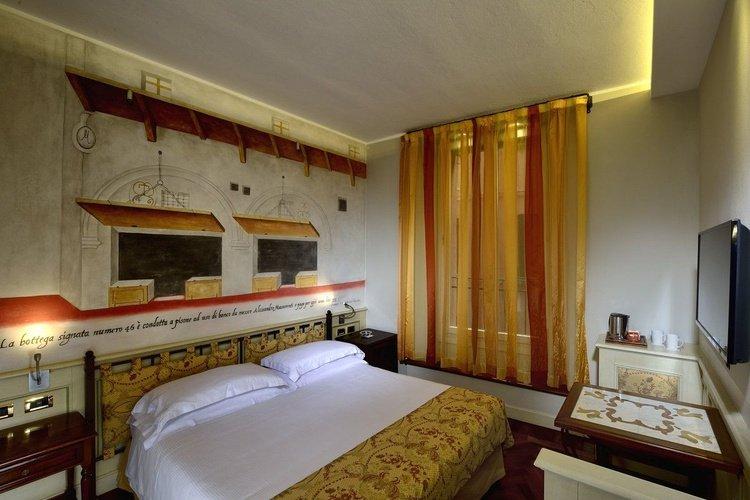Habitación doble art hotel commercianti bologna