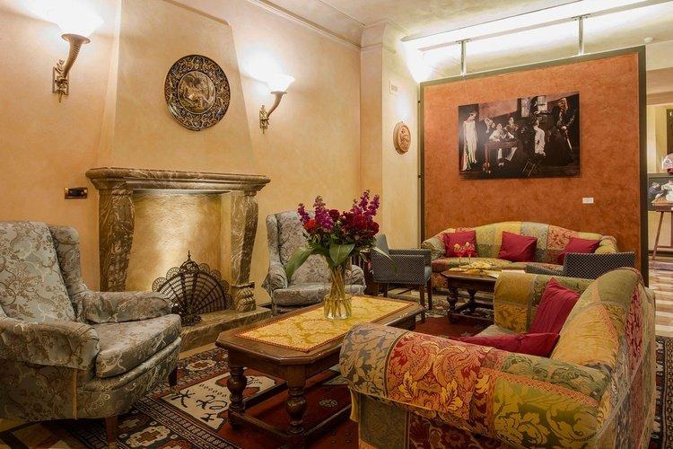 Sala de estar  art hotel commercianti bolonia
