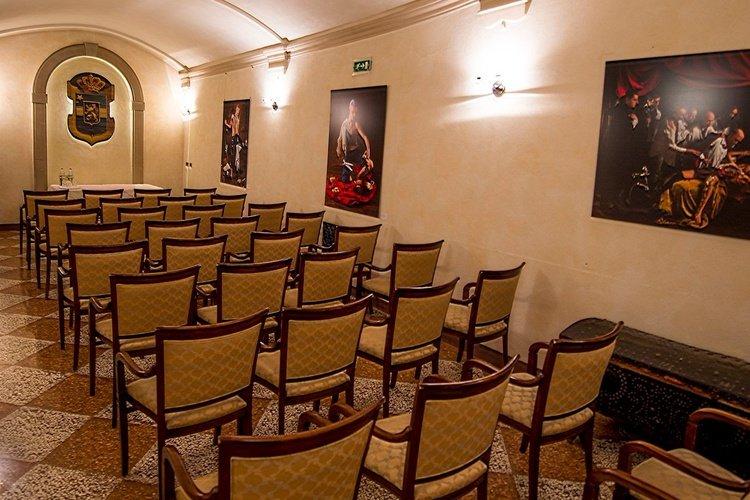 Sala de reuniones  art hotel commercianti bolonia