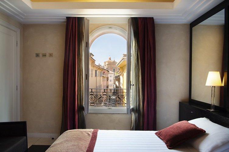 Habitación doble  art hotel novecento bolonia, italia
