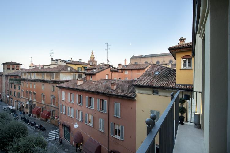 Panorámica  art hotel novecento bolonia