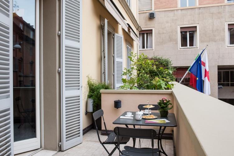 Terraza  art hotel novecento bolonia